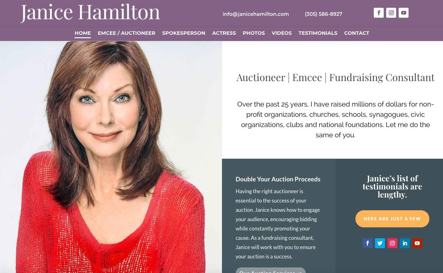Auctioneer Janice Hamilton